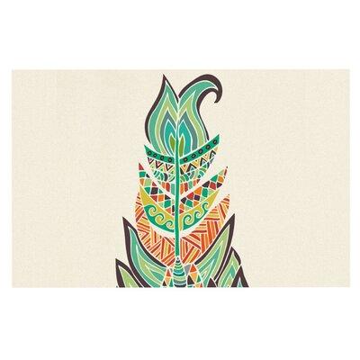 Pom Graphic Design Tribal Feather Doormat