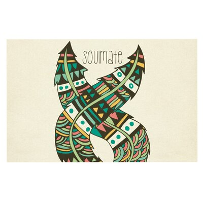 Pom Graphic Design Soulmate Feathers Doormat