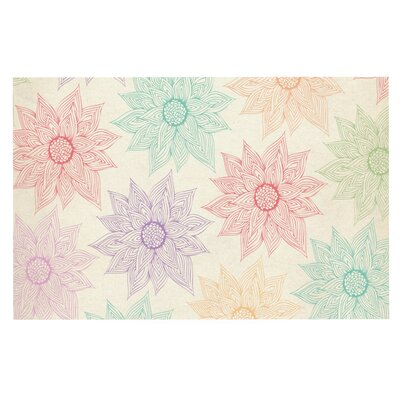 Pom Graphic Design Spring Florals Rainbow Doormat