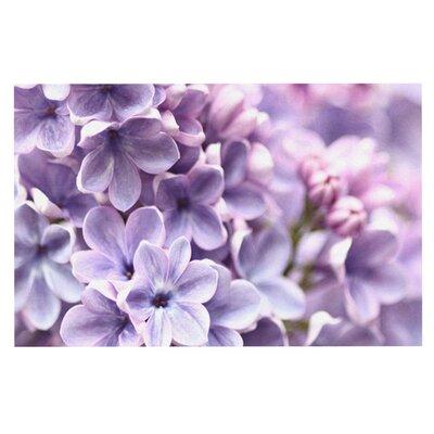 Sylvia Cook Lilac Flowers Doormat
