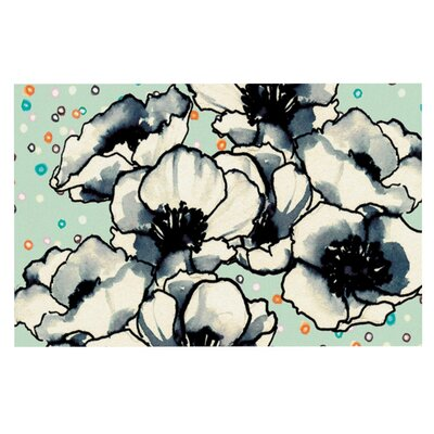 Anenome Fizz by Sonal Nathwani Fleece Throw Blanket Size: 80 H x 60 W x 1 D