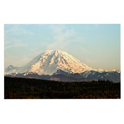 Sylvia Cook Mt. Rainier Mountain Photo Doormat