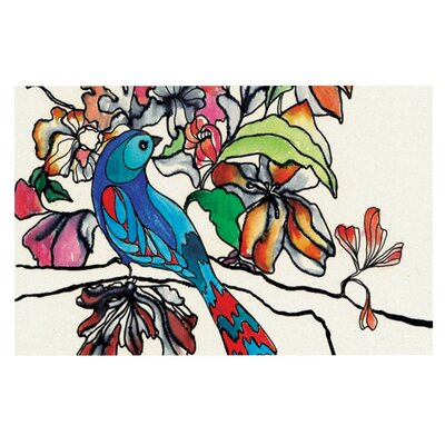Sonal Nathwani Magic Garden Rainbow Bird Doormat