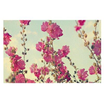 Sylvia Cook Lavatera Flowers Sky Doormat