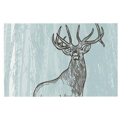 Sam Posnick Elk Scene Doormat