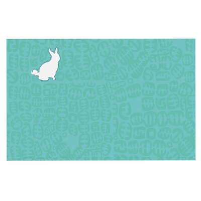 Theresa Giolzetti Oliver Doormat Color: Teal