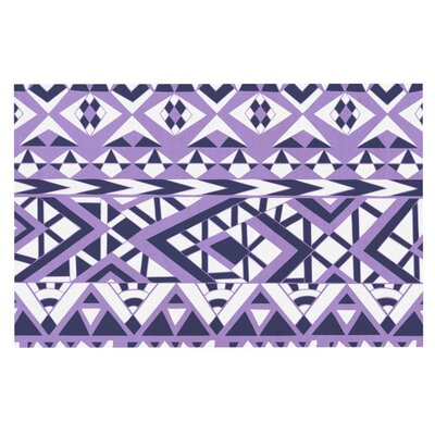 Pom Graphic Design Tribal Simplicity Doormat Color: Purple
