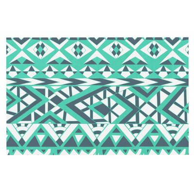 Pom Graphic Design Tribal Simplicity Doormat Color: Teal