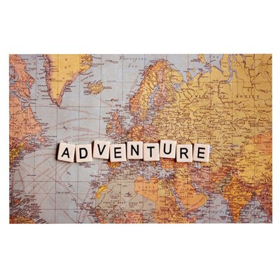 Sylvia Cook Adventure Map World Doormat