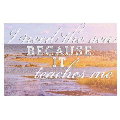 Rachel Burbee I Need The Sea Typography Doormat