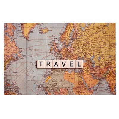 Sylvia Cook Travel Map World Doormat