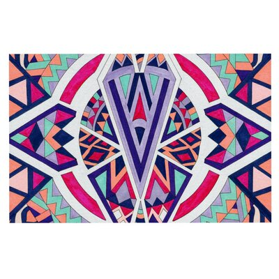 Pom Graphic Design Abstract Journey Circular Tribal Doormat