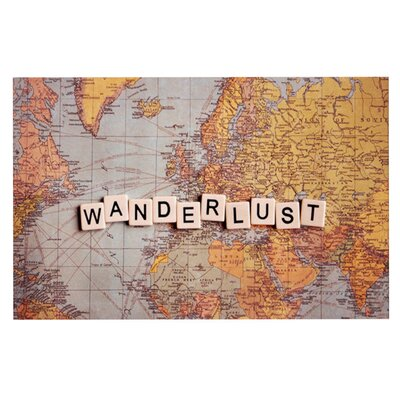 Sylvia Cook Wanderlust Map World Doormat