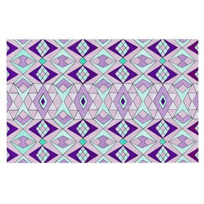 Pom Graphic Design Geometric Flow Lavender Geometric Doormat