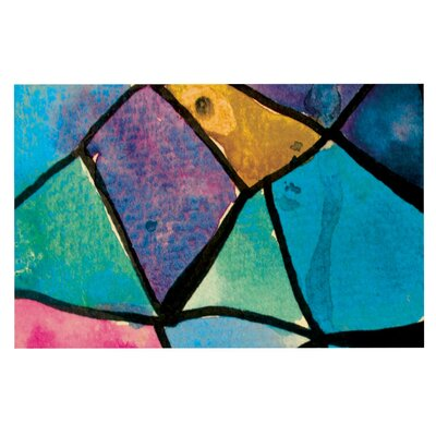 Theresa Giolzetti Stain Glass Doormat Color: Green/Blue