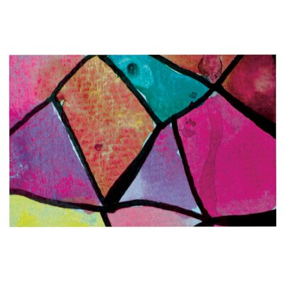 Theresa Giolzetti Stain Glass Doormat Color: Pink/Purple