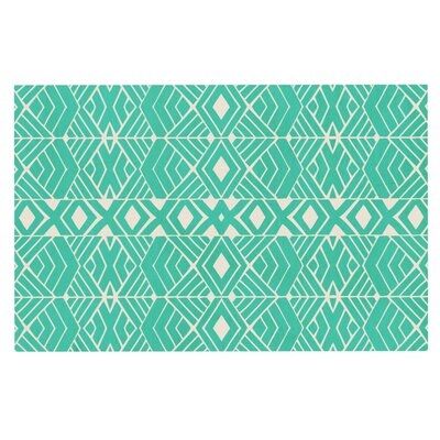 Pom Graphic Design Going Tribal Doormat Color: Teal