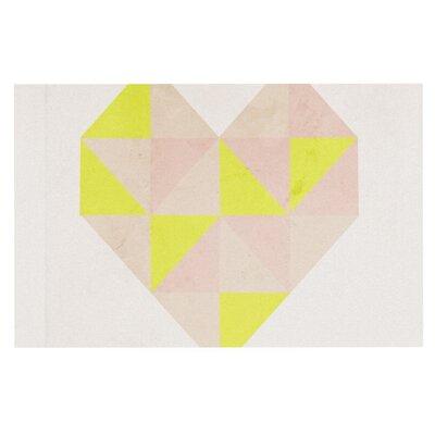 Skye Zambrana Geo Heart Doormat
