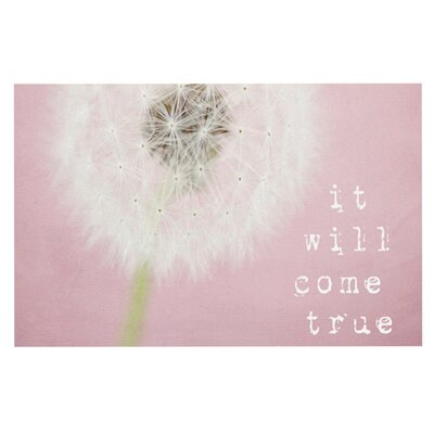 Susannah TuckeIt Will Come True Flower Doormat