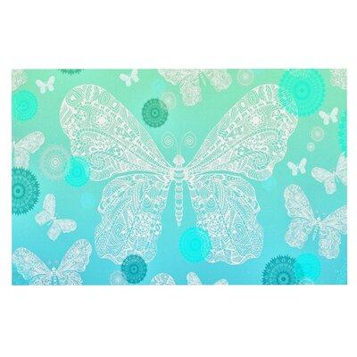 Monika Strigel Butterfly Dreams Doormat Color: Aqua/Mint