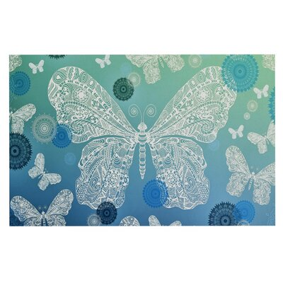 Monika Strigel Butterfly Dreams Doormat Color: Ocean/Blue