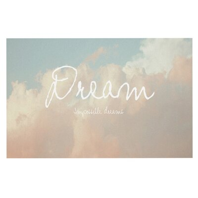 Suzanne Carter Dream Quote Clouds Doormat