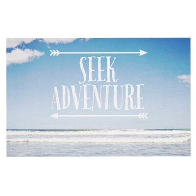 Susannah Tucke Seek Adventure Beach Doormat