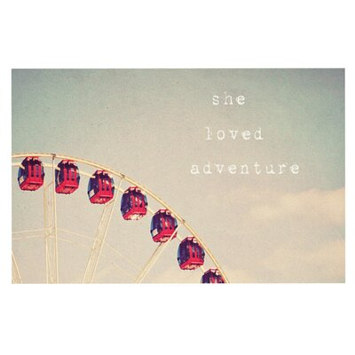 Susannah Tucke She Loved Adventure Ferris Wheel Doormat