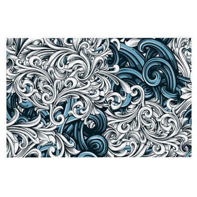 Nick Atkinson Celtic Floral II Abstract Doormat