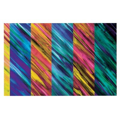 Theresa Giolzetti Set Stripes Doormat Color: Yellow/Green