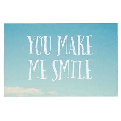 Susannah Tucke You Make Me Smile Beach Sky Doormat