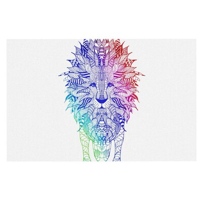 Monika Strigel Rainbow Lion Doormat