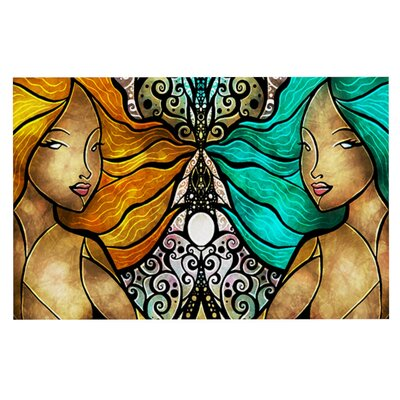 Mandie Manzano Mermaid Twins Doormat