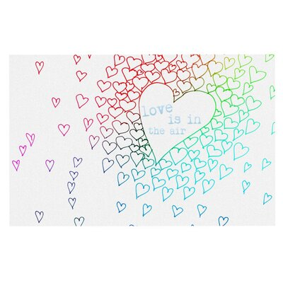 Monika Strigel Rainbow Hearts Doormat