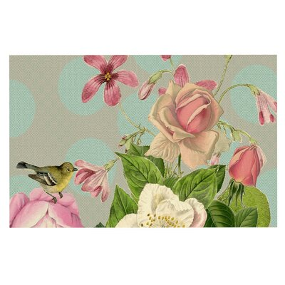 Suzanne Carter Vintage Garden Cush Flowers Doormat