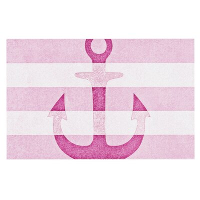 Monika Strigel Stone Vintage Anchor Doormat Color: Pink