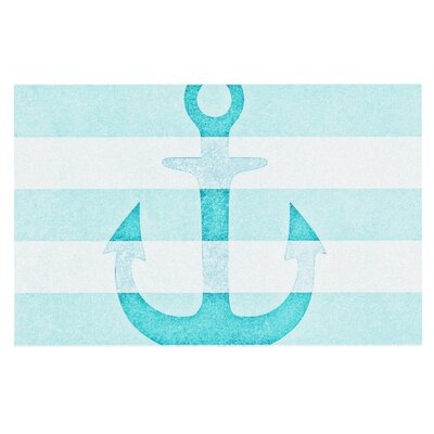 Monika Strigel Stone Vintage Anchor Doormat Color: Blue