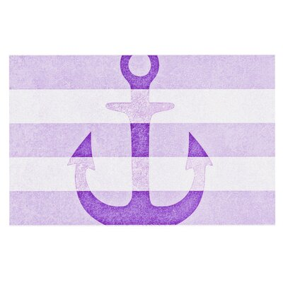 Monika Strigel Stone Vintage Anchor Doormat Color: Purple