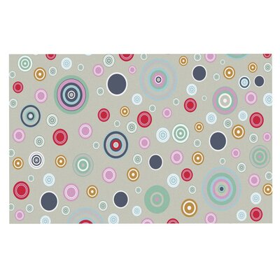 Suzanne Carter 'Circle Circle' Doormat Color: Gray