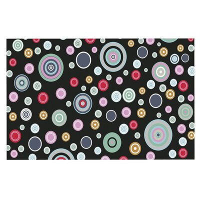 Suzanne Carter 'Circle Circle' Doormat Color: Black