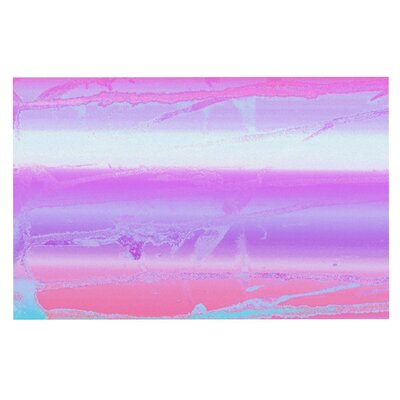 Nina May Drip Dye Pastel Doormat Color: Purple/Orange