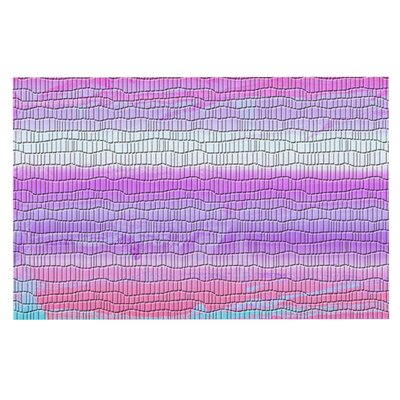Nina May Drip Dye Strid Doormat Color: Orange/Pink