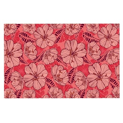 Flutter Floral by Suzie Tremel Fleece Throw Blanket Size: 40 H x 30 W x 1 D