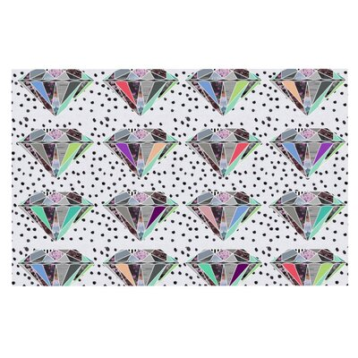 Vasare Nar Polka Dot Diamonds Rainbow Doormat
