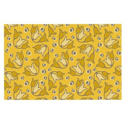 Tulip Toss by Suzie Tremel Fleece Throw Blanket Size: 80 H x 60 W x 1 D