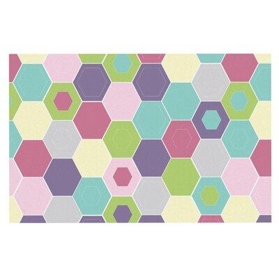 Nicole Ketchum Pale Bee Hex. Doormat