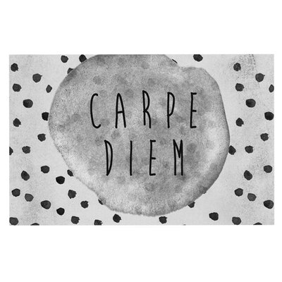 Vasare Nar Carpe Diem Quote Doormat