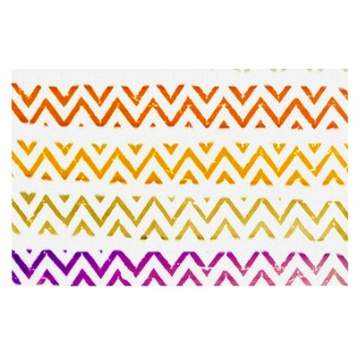 Sreetama Ray Chevron Add Warm Chevrons Doormat