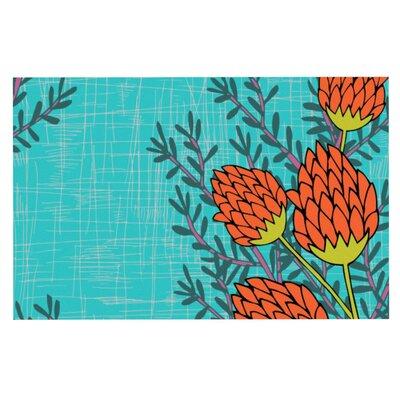 Nandita Singh Flowers Doormat