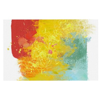 Oriana Cordero Medley Colorful Paint Doormat